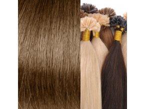 vlasy na keratin hnědá světlá