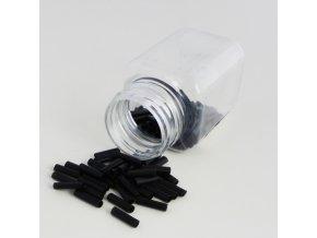 Trubičky PVC na prodlužování vlasů černé