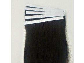 Vlasové pásky východoevropských vlasů - barva přírodní černá.