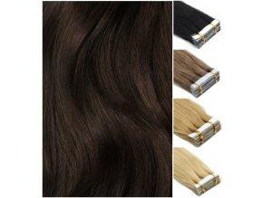 Vlasové pásky východoevropských vlasů - barva přírodní černá