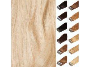 evropské Vlasy na prodlužování Hair Talk, PU pasky
