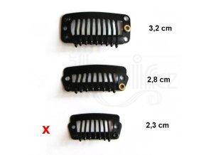 CLIP IN hřebínky barva černá 2,3 cm.