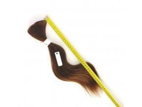 Evropské vlasy Výběr, hnědé, mírně vlnité