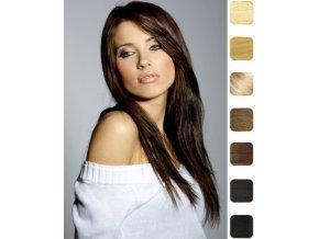 Paruka z indických vlasů, černá - podklad Cheryl