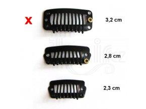 Vlasové hřebínky CLIP IN - barva černá 3,2 cm.