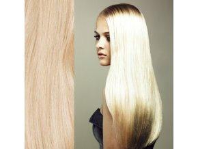 Prodloužení vlasů blond platina