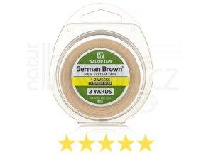 Páska na paruky a vlasové systémy - German Brown.