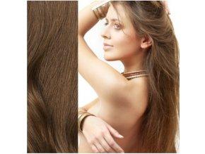 Prodloužení vlasů - východoevropské vlasy, barva hnědá.