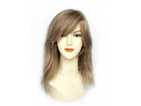 Paruka z Indických vlasů, melír blond a hnědá.  Ostřihání paruky a úprava je zdarma.