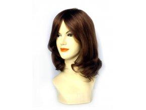 Paruka z indických vlasů, hnědá - podklad Cheryl.  Ostřihání paruky a úprava je zdarma.