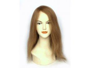 Paruka z pravých vlasů, tmavá blond