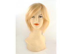 Paruka z evropských vlasů, barva světlá blond.