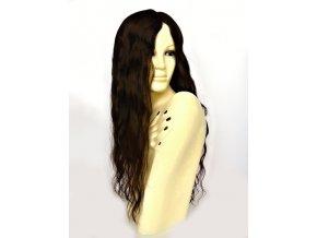Paruka z evropskych vlasu tmave hneda