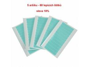 Pásky na prodlužování vlasů - 12 lepicích štítků v aršíku.