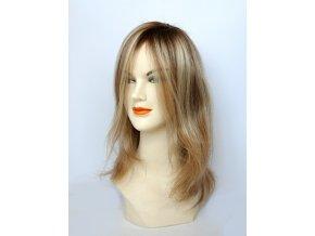 Paruka z evropských vlasů, barva blond melír.