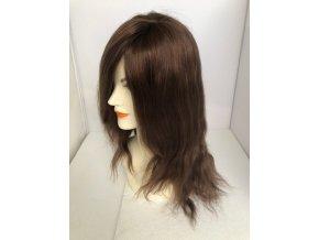 Paruka z pravých vlasů CHEMO -  ČOKOLÁDA ZLATÁ 30 - 45 cm.