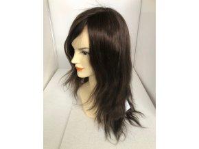 Paruka z pravých vlasů CHEMO - HNĚDÁ POPELAVÁ 6C 30 - 45 cm.