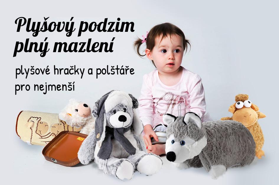 Plyšové polštáře a hračky