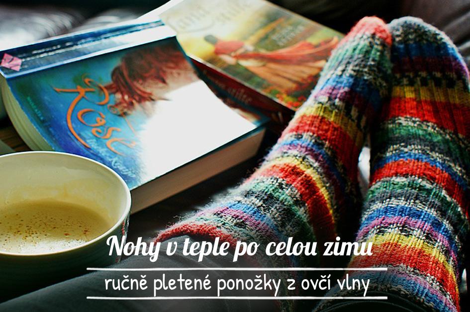 Pletené ponožky z ovčí vlny