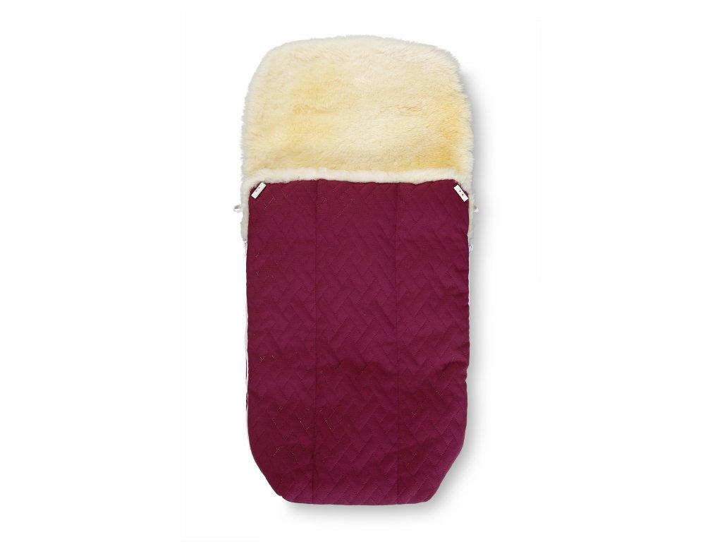 Zimní fusak do kočárku s kožešinou, fialový 1