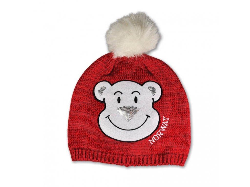 detska pletena cepice s lednim medvedem