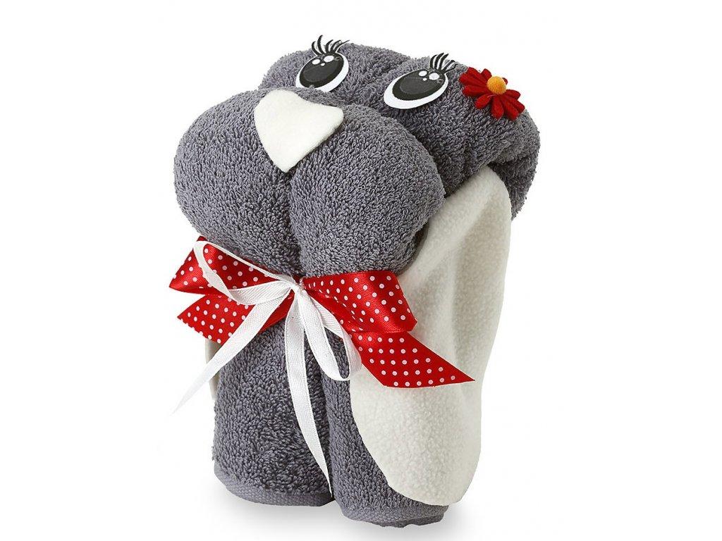 froté ručník šedý pes (2)