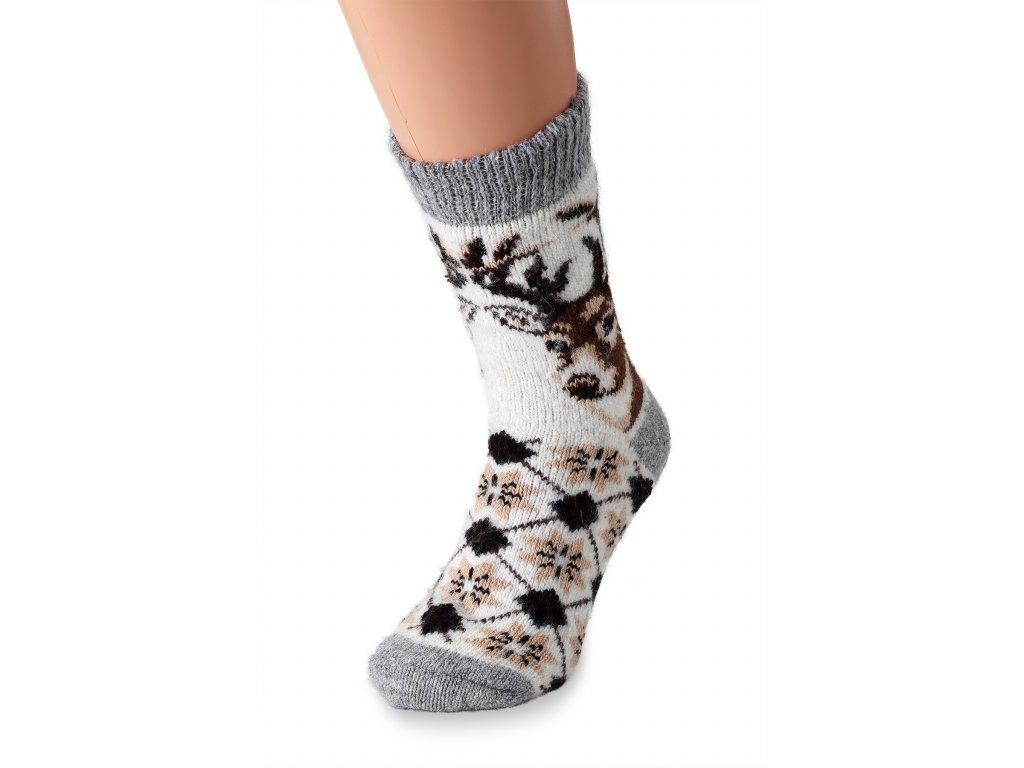 vlněné ponožky jelen (4)