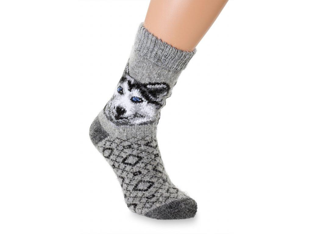 vlněné ponožky husky s jazykem (3)