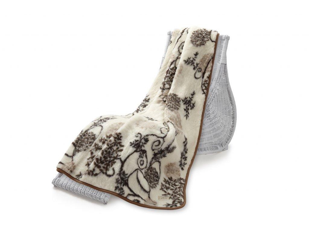 Vlněná deka Hit Jacquard, 140x200 cm, bodlák (5)