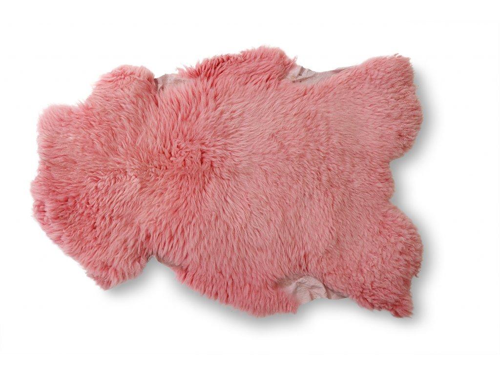 ovčí kůže starorůžová