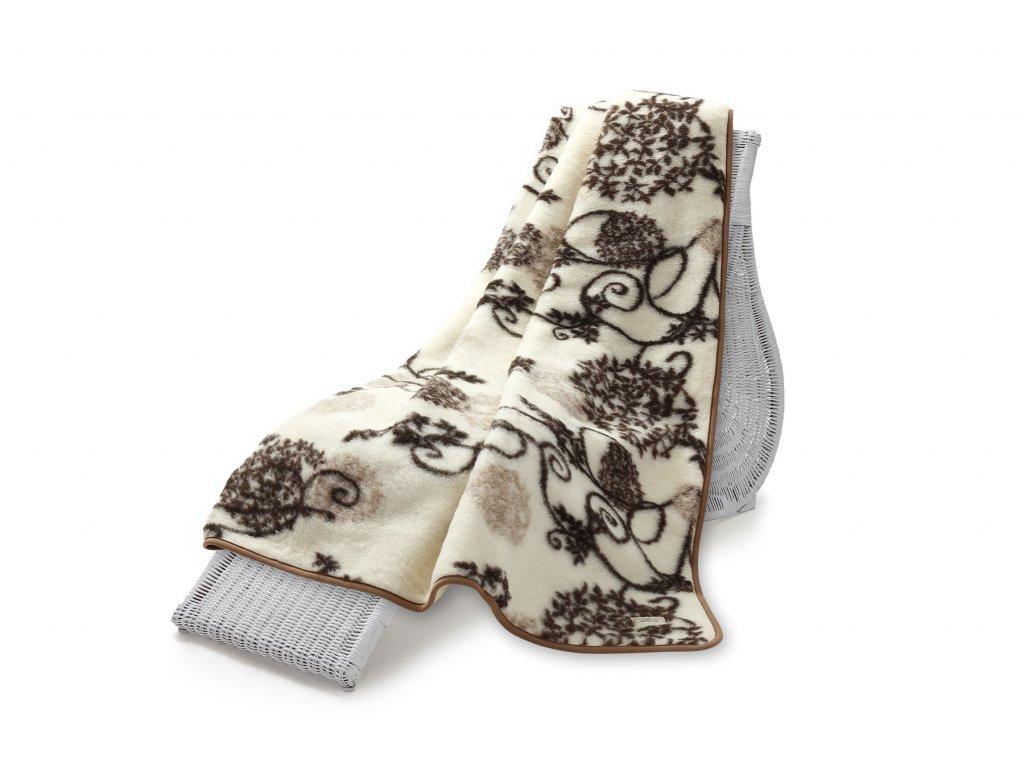 Vlněná deka Hit Jacquard, 200x220 cm, bodlák (5)