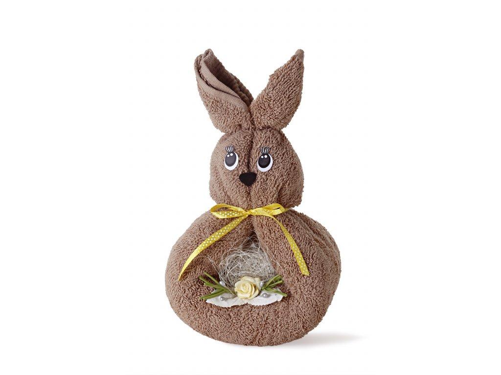 králíček hnědý se žlutou mašlí