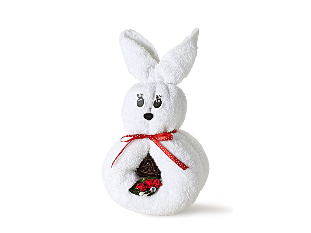 králíček bílý s rudou mašlí (2)