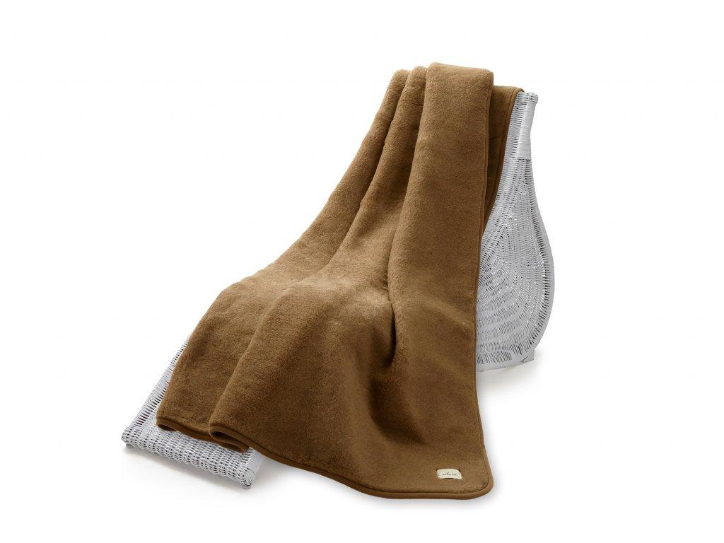 Vlněná deka oboustr. 200x220 cm, Camello, kávová (4)