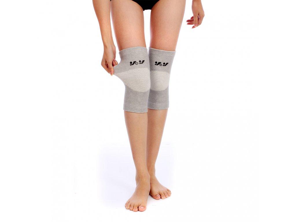 bandáž na koleno, elastická šedá (2)