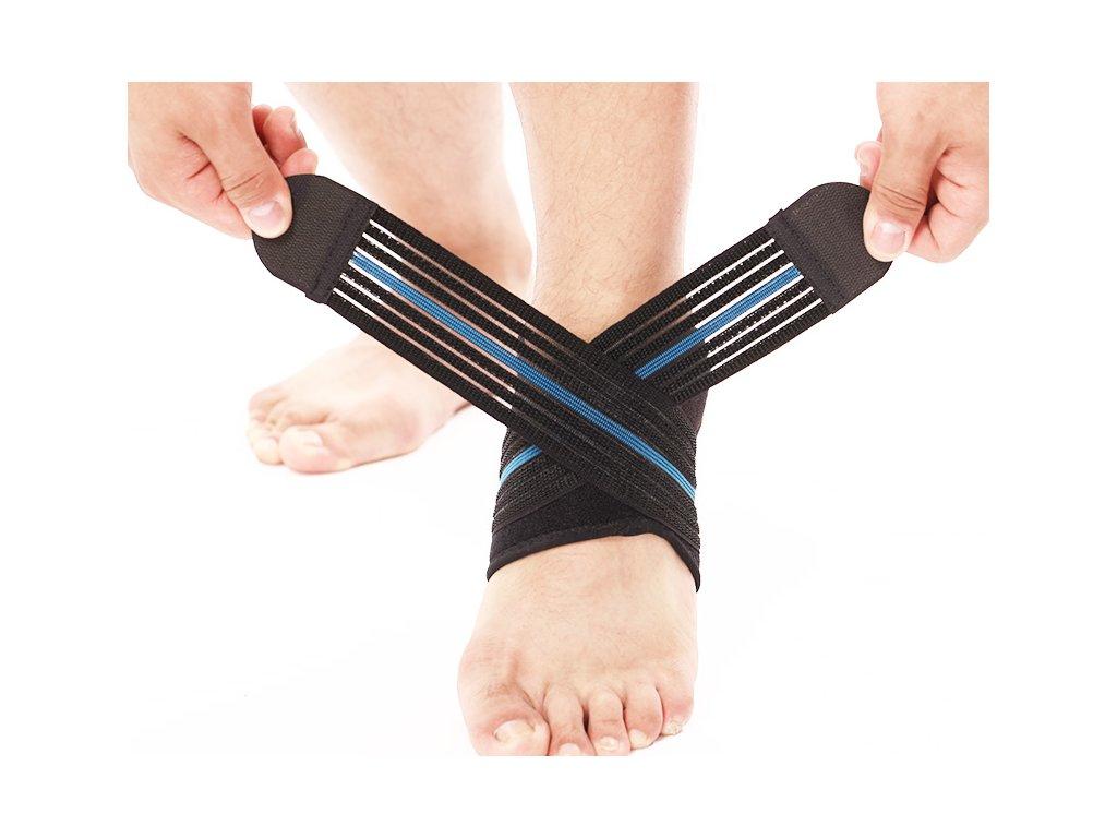 Prodyšná elastická bandáž kotníku s popruhy (7)