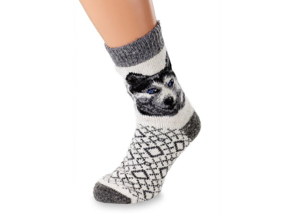 vlněné ponožky husky světlý (5)