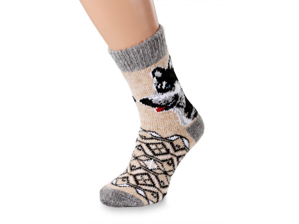 vlněné ponožky husky (5)