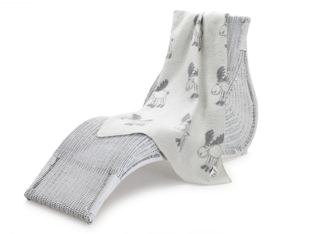 vlněná deka pro děti los šedý 1