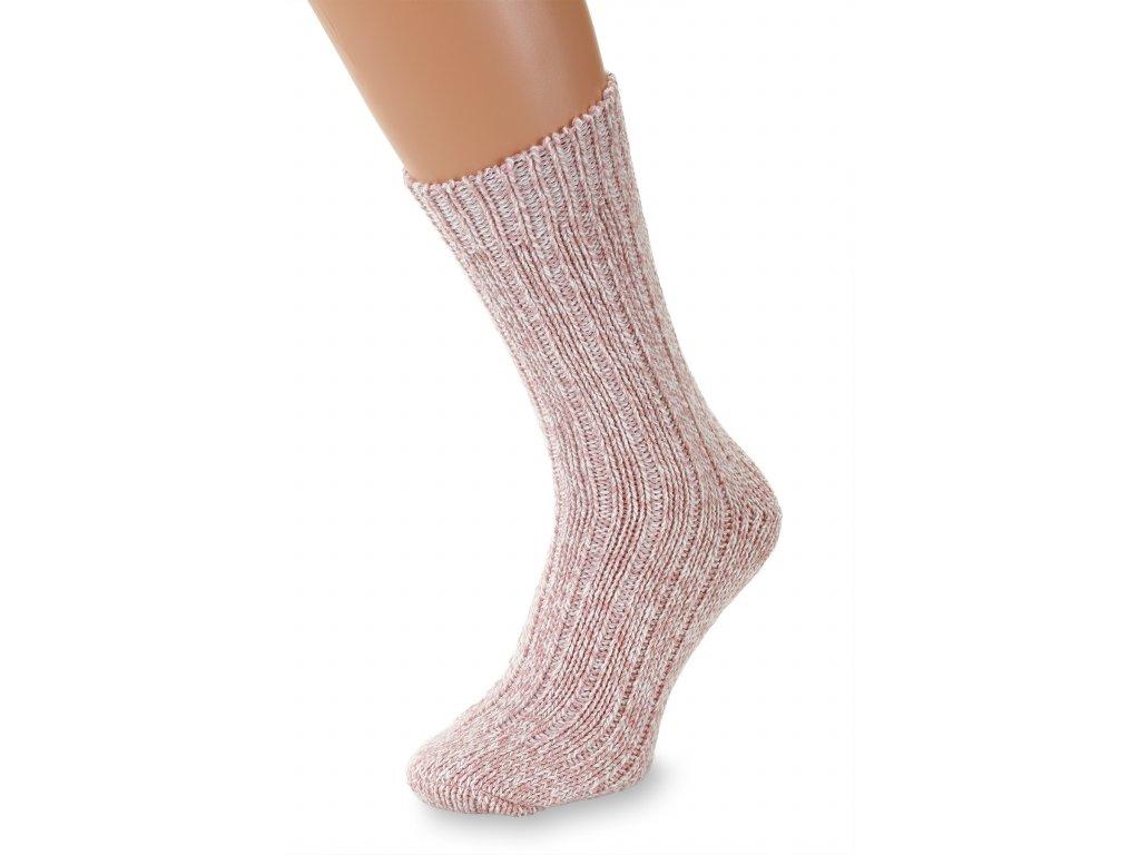 Ponožky Merino dětská růžová (2)