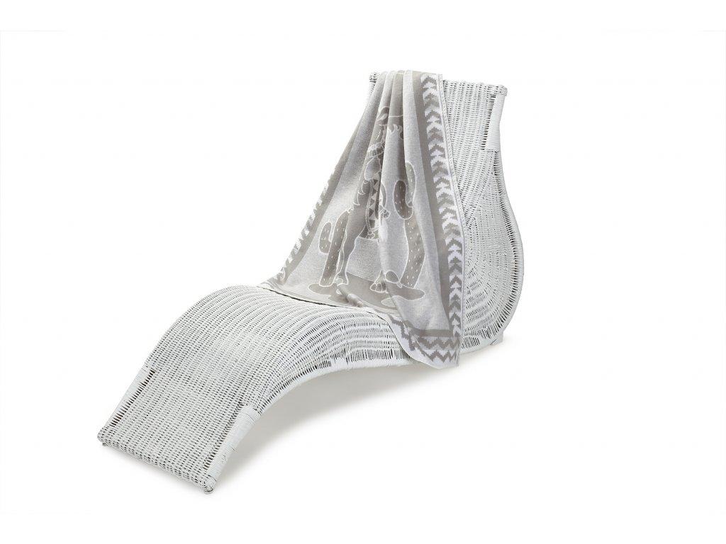 Jednostranná deka dětská bavlna, 100x140 cm, šedý velbloud (2)
