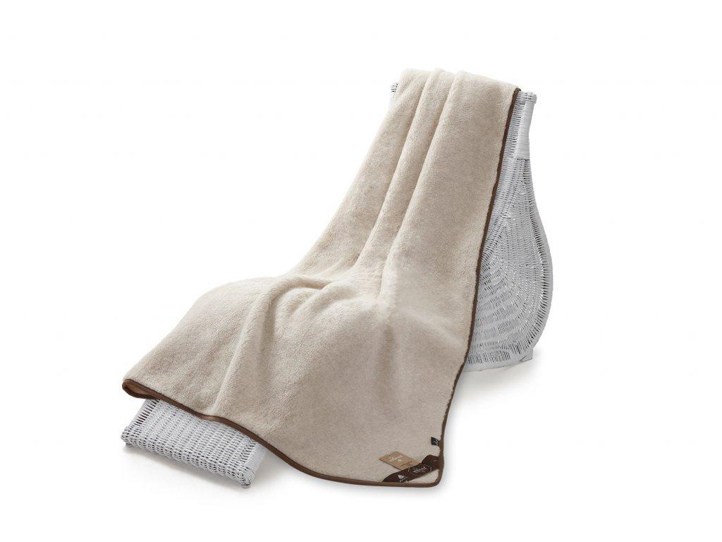 Jednostranná deka, camel 140x200 cm, béžová (5)