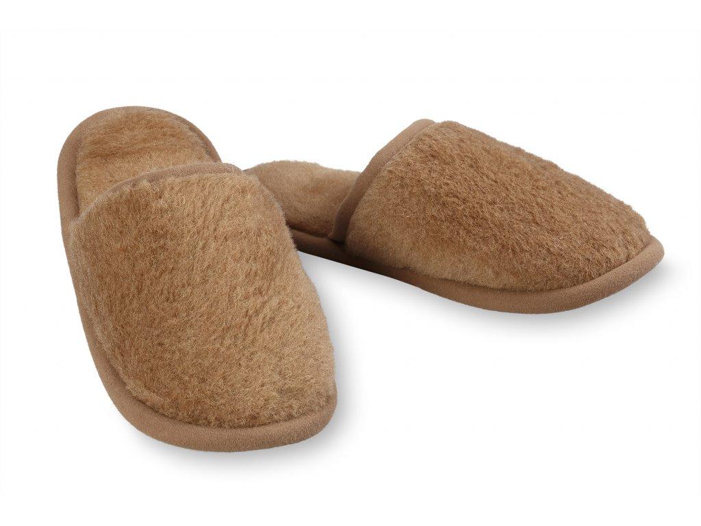Papuče camel, hnědá (2)
