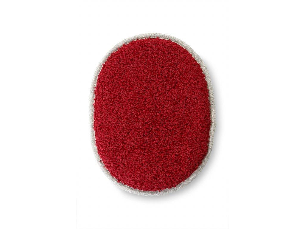 Tělová houba na koupání, červená