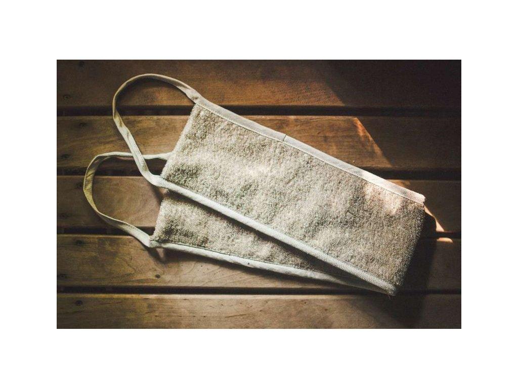 Masážní pás do sauny, lněný (3)