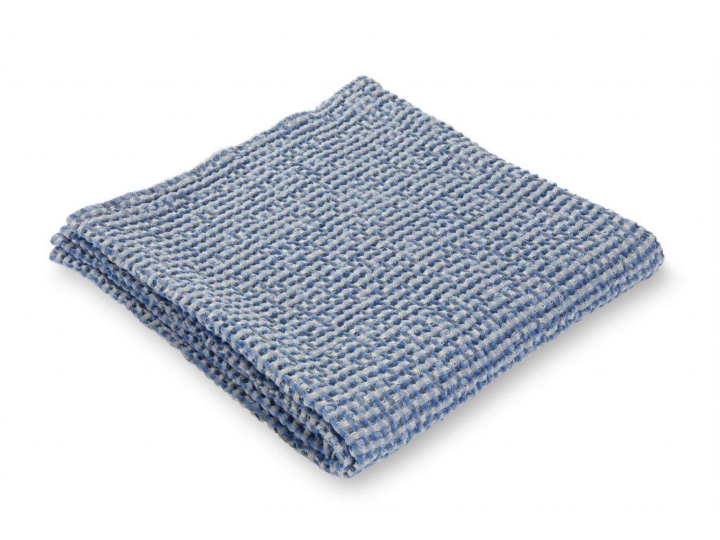 Jemný waflový ručník, modrý