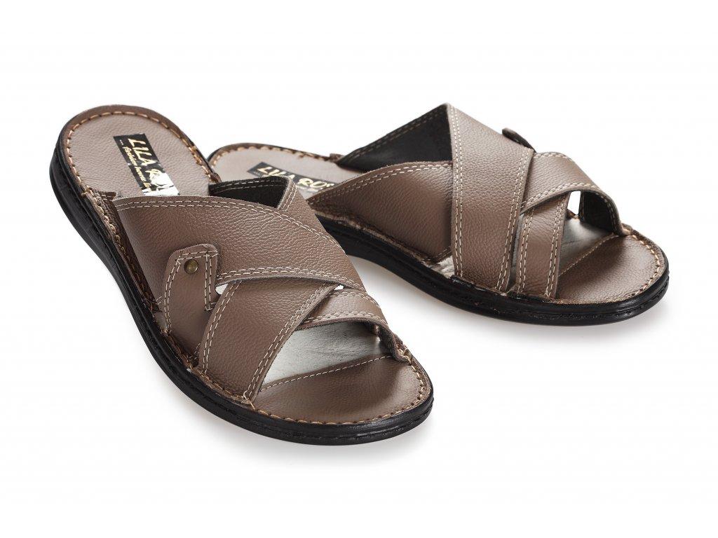Kožené sandály pánské nazouvací