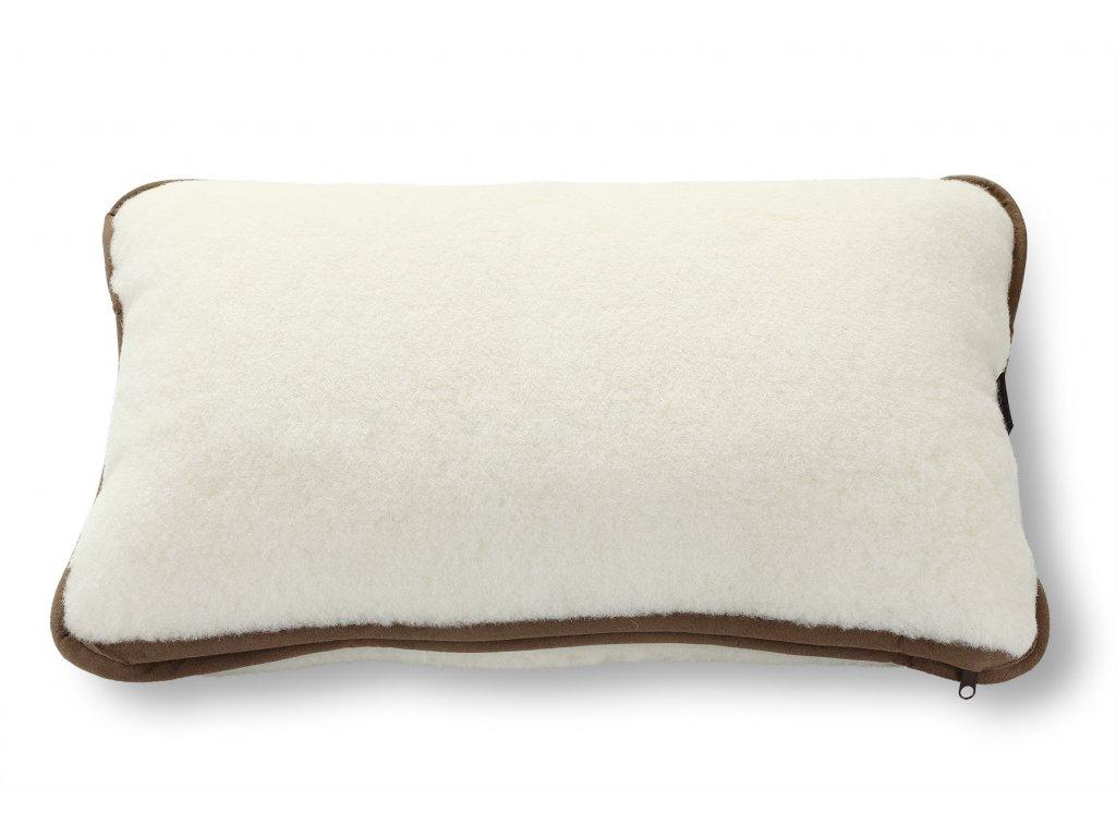 Velký polštář, australian merino, 40x60 cm, bílý (