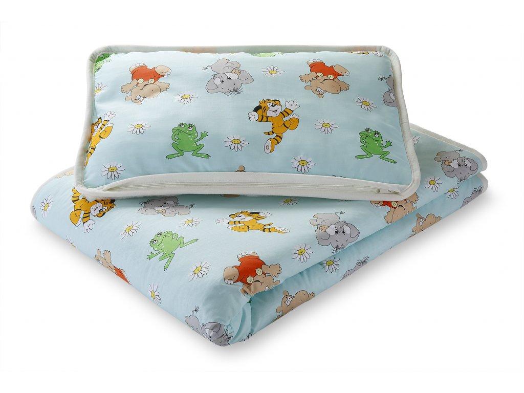 Set polštář a přikrývka dětská, cashmere + bavlna (4)
