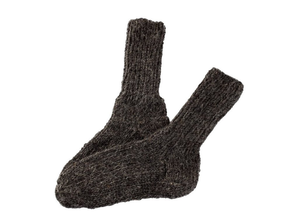 7a2a5687e12 Ručně pletené ponožky 100% ovčí vlna černé - Vlněné zboží